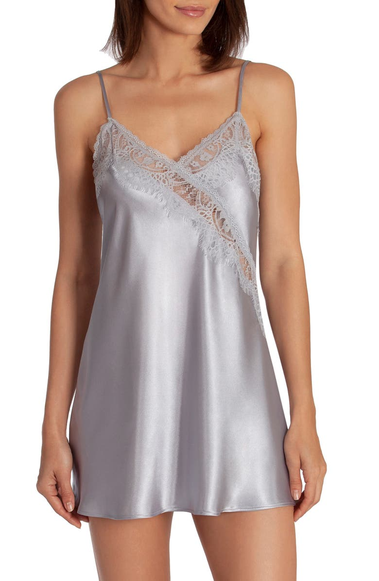 IN BLOOM BY JONQUIL Picture Perfect Satin Chemise, Main, color, MINERAL PURPLE