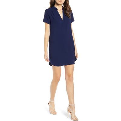 All In Favor Hailey Crepe Dress, Blue