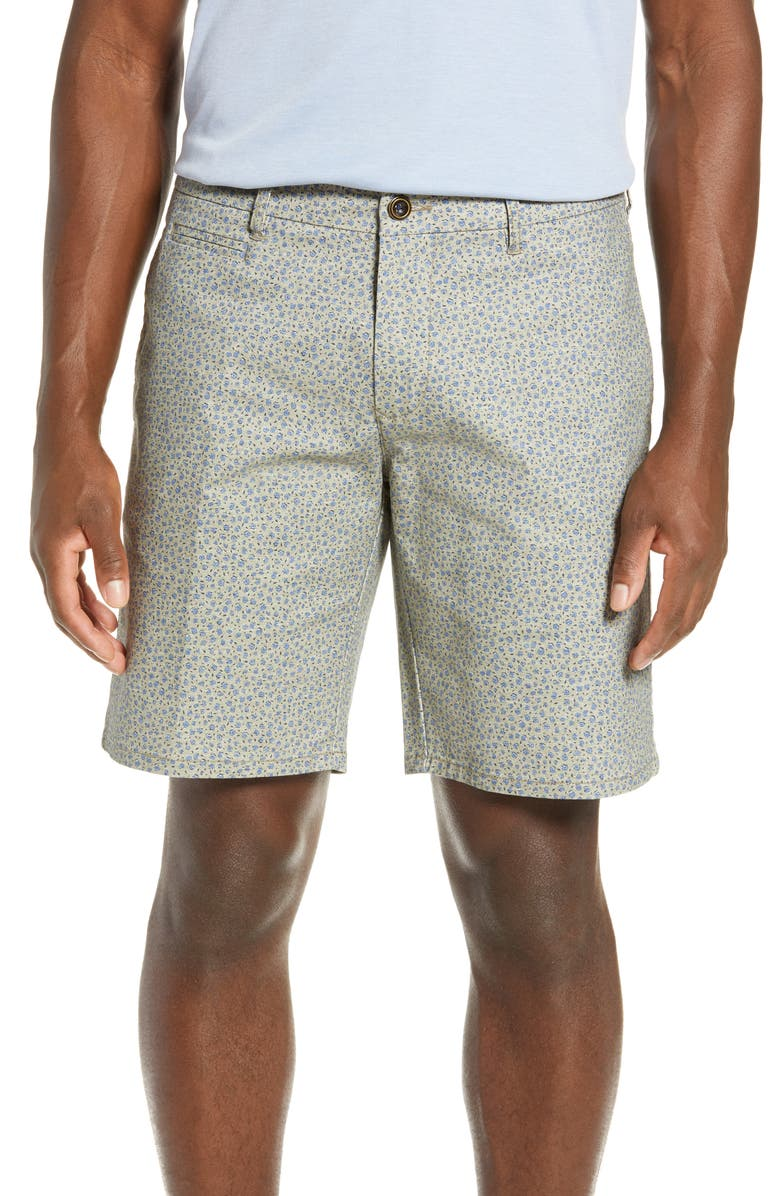 RODD & GUNN Redvale Bay Regular Fit Shorts, Main, color, FERN