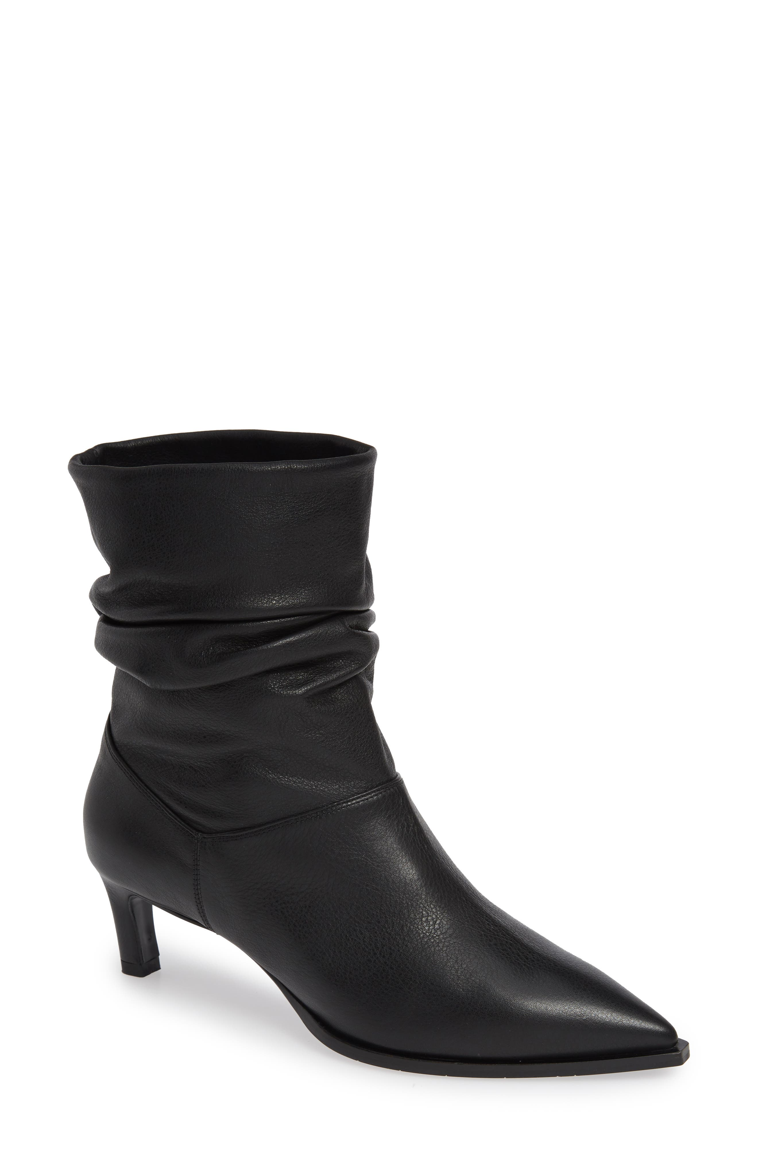 Aquatalia Maddy Water Resistant Slouch Boot- Black
