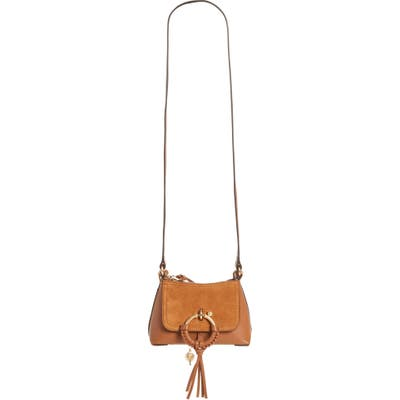 See By Chloe Mini Joan Leather Crossbody Bag - Brown