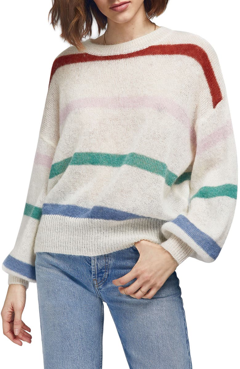 ANINE BING Lydia Stripe Sweater, Main, color, 900
