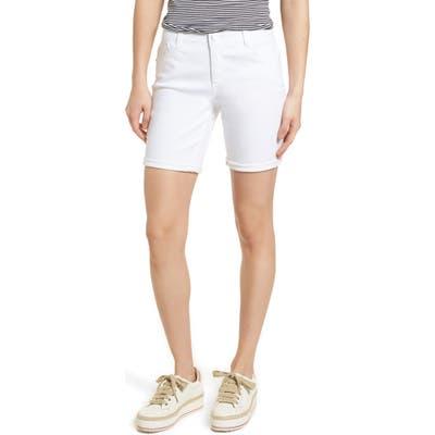 Wit & Wisdom Ab-Solution White Denim Shorts, White (Regular & Petite) (Nordstrom Exclusive)