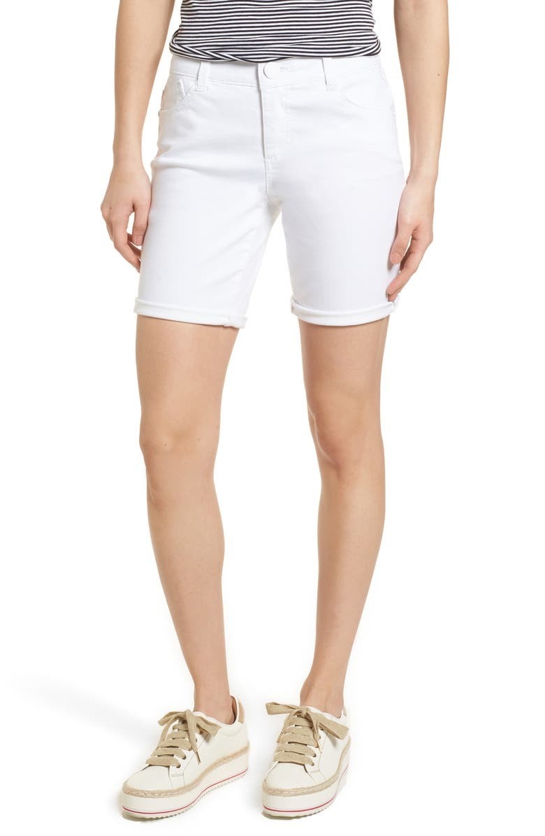 Wit Wisdom Ab Solution White Denim Shorts Regular Petite Exclusive