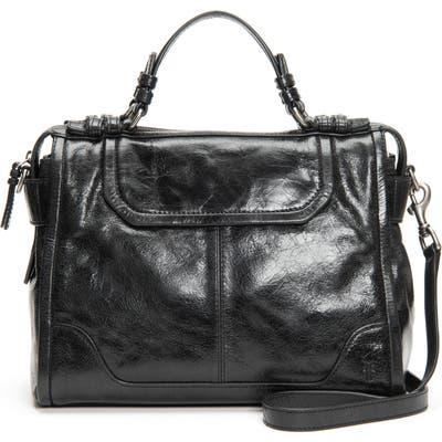 Frye Mel Leather Satchel - Black