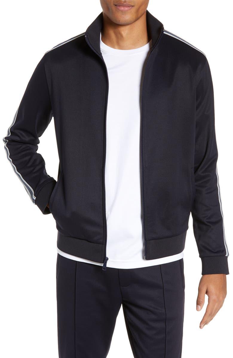 VINCE Slim Fit Track Jacket, Main, color, 403