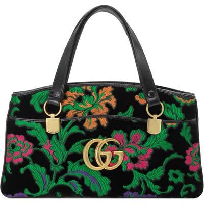 Gucci Medium Arli Floral Chenille Jacquard Top Handle Bag - Green