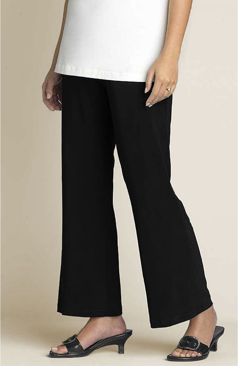 JAPANESE WEEKEND Maternity Matte Jersey Ankle Pants, Main, color, BLACK