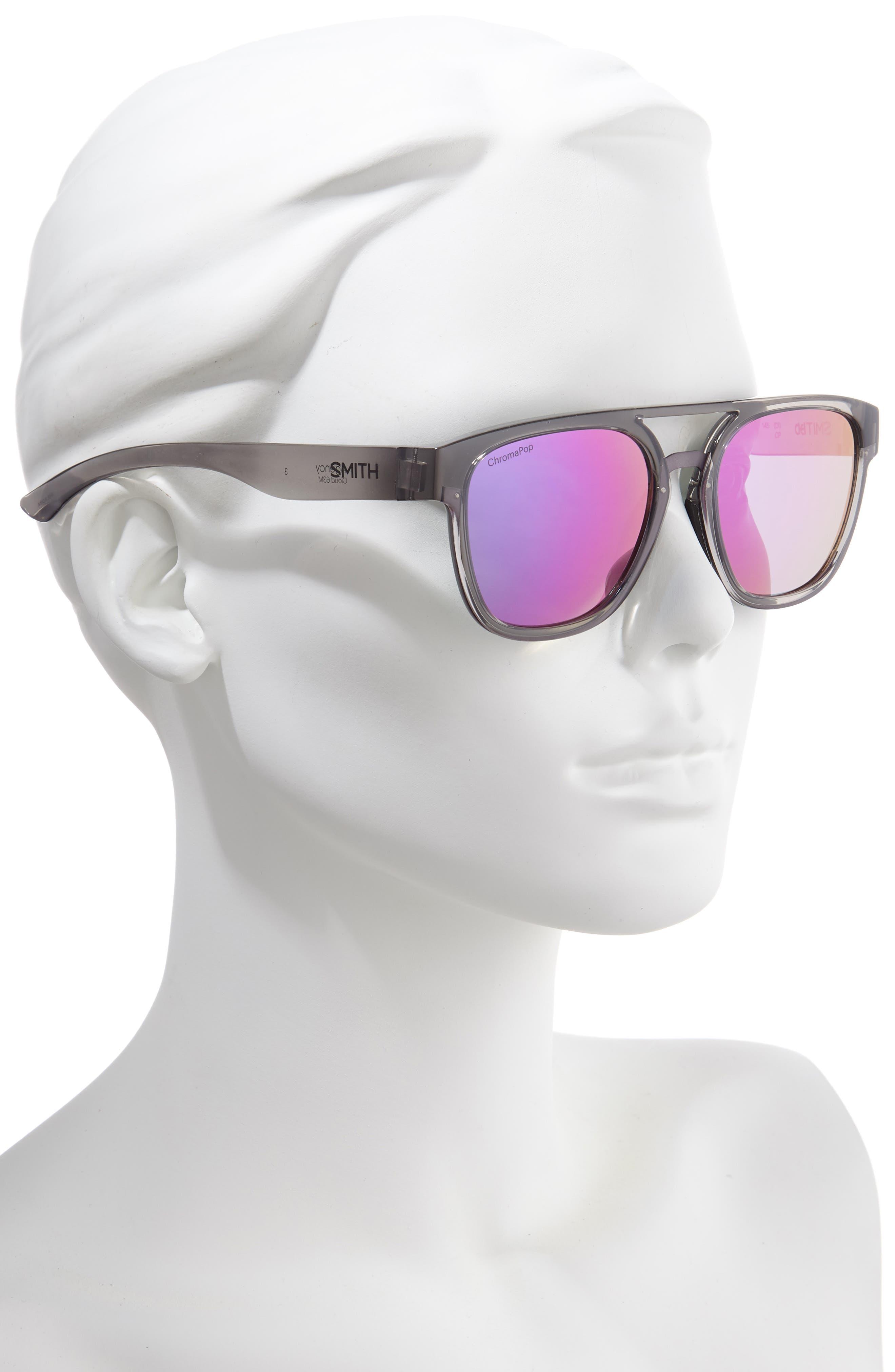 ,                             Agency 54mm ChromaPop<sup>™</sup> Mirrored Sunglasses,                             Alternate thumbnail 2, color,                             GREY CLOUD/ PURPLE