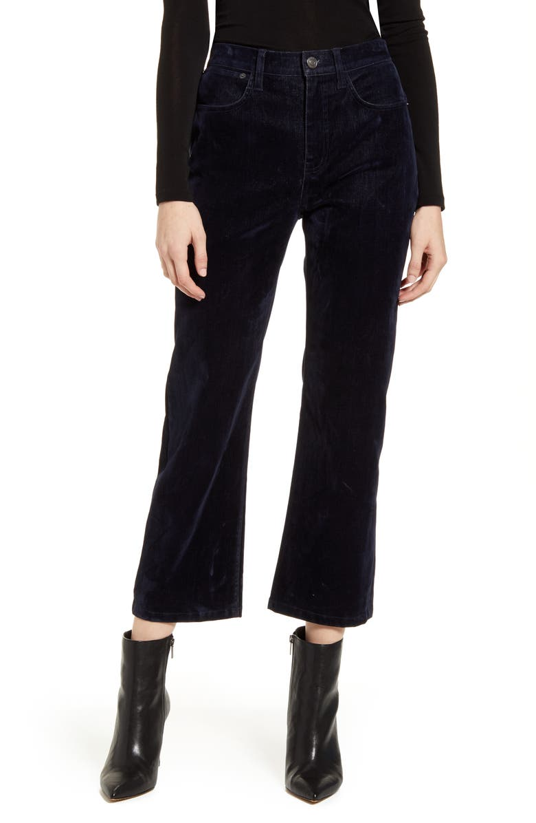 CURRENT/ELLIOTT The Vanessa Cropped Wide Leg Jeans, Main, color, DARK NAVY