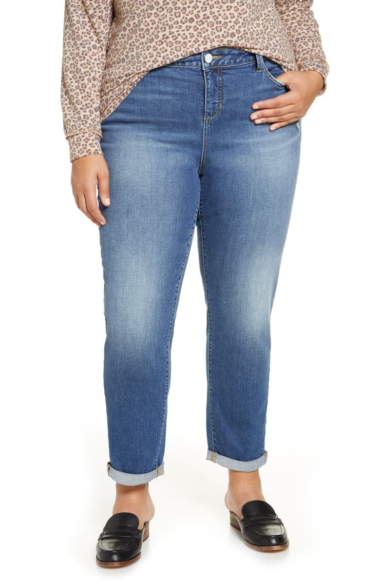 SLINK JEANS High Waist Boyfriend Jeans, Main, color, RORY