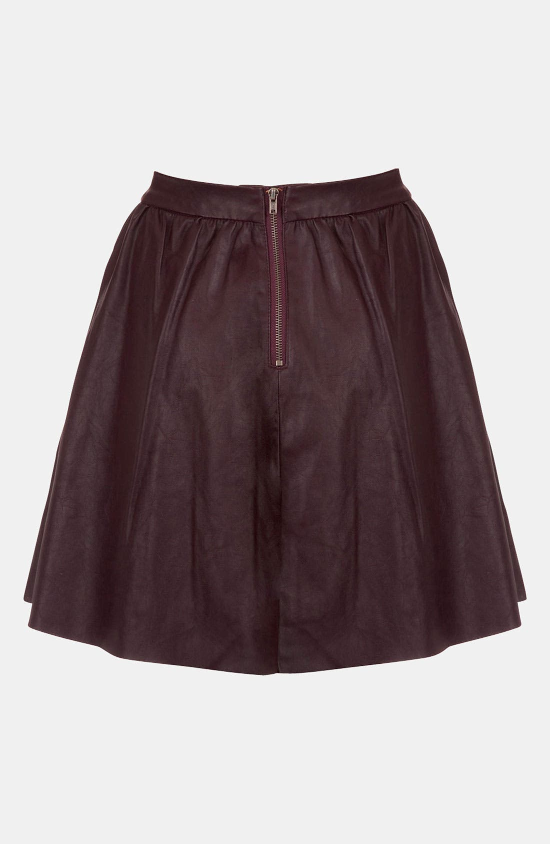 ,                             'Andie' Faux Leather Skater Skirt,                             Alternate thumbnail 5, color,                             930
