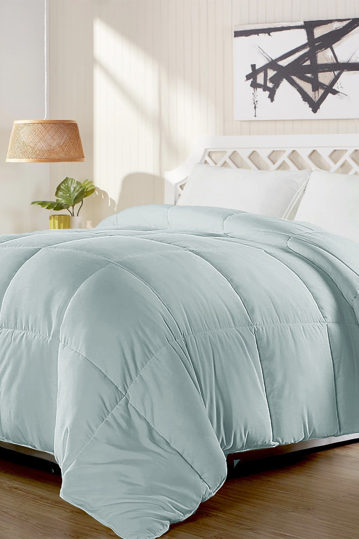 Image of Blue Ridge Home Fashions All Season Duck Feather and Down Comforter - King - Light Blue
