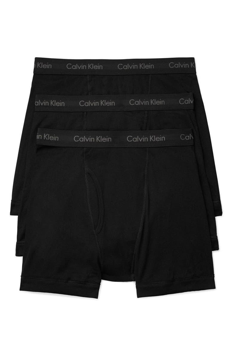 CALVIN KLEIN 3-Pack Boxer Briefs, Main, color, BLACK