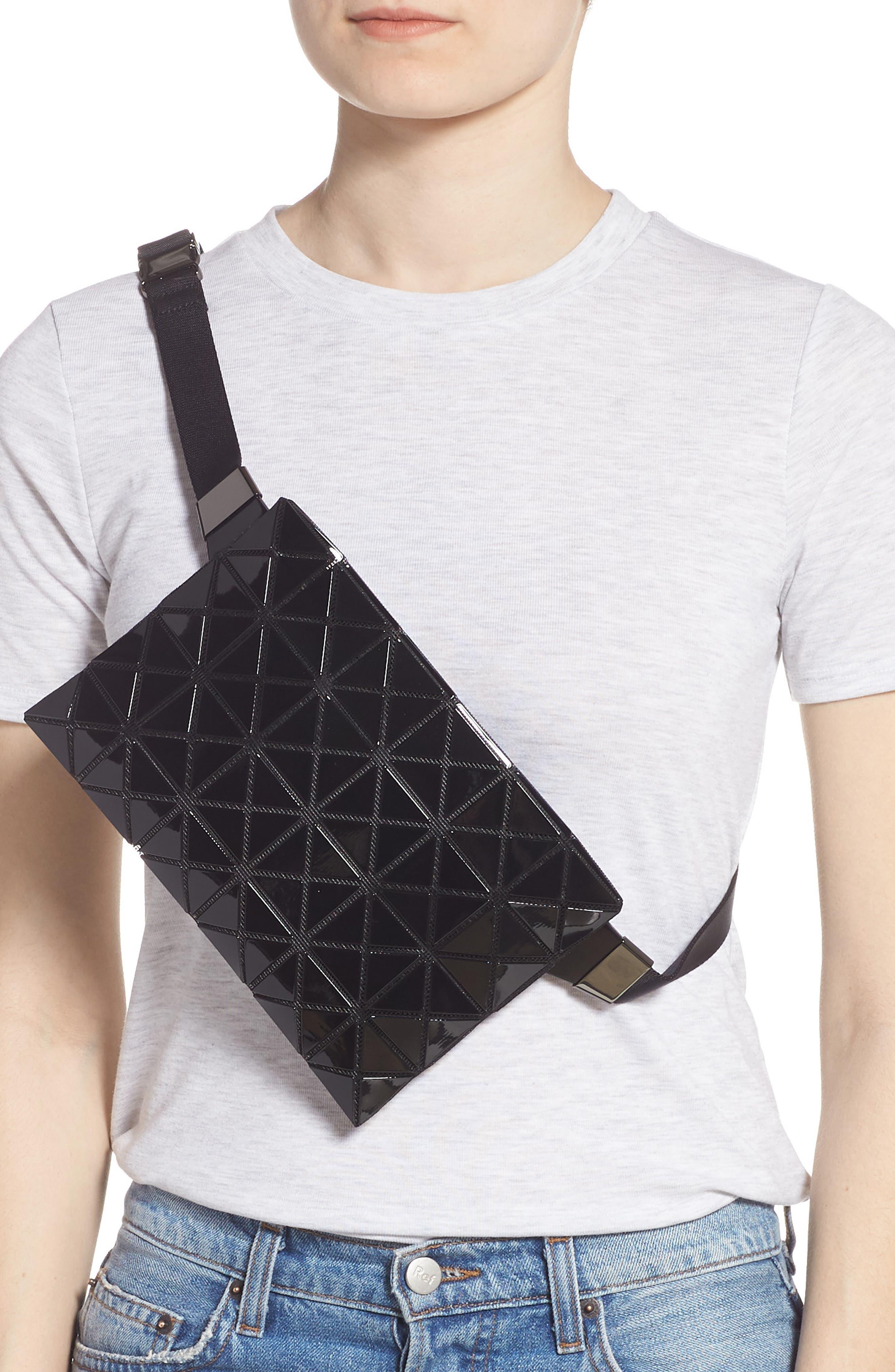 ,                             Prism Belt Bag,                             Alternate thumbnail 4, color,                             JET BLACK