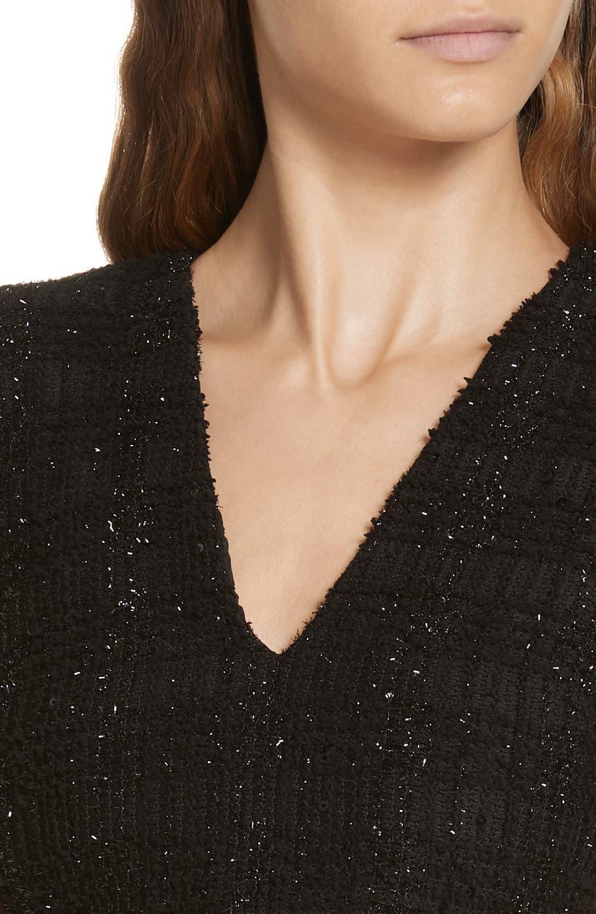3e163bddac Alice + Olivia Adelaide Metallic Sparkle Sleeveless Sweater Dress ...