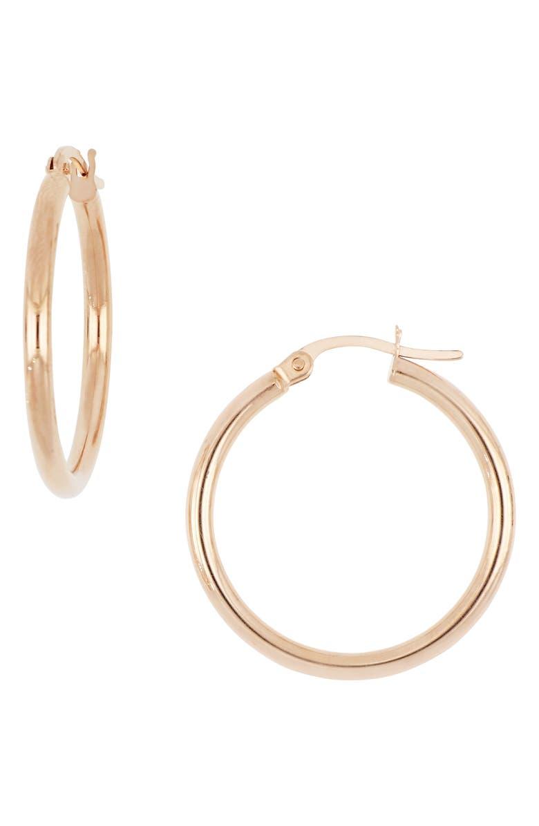 BONY LEVY 14K Rose Gold Hoop Earrings, Main, color, ROSE GOLD