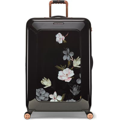 Ted Baker London Large Take Flight Opal 32-Inch Hard Shell Spinner Suitcase - Black