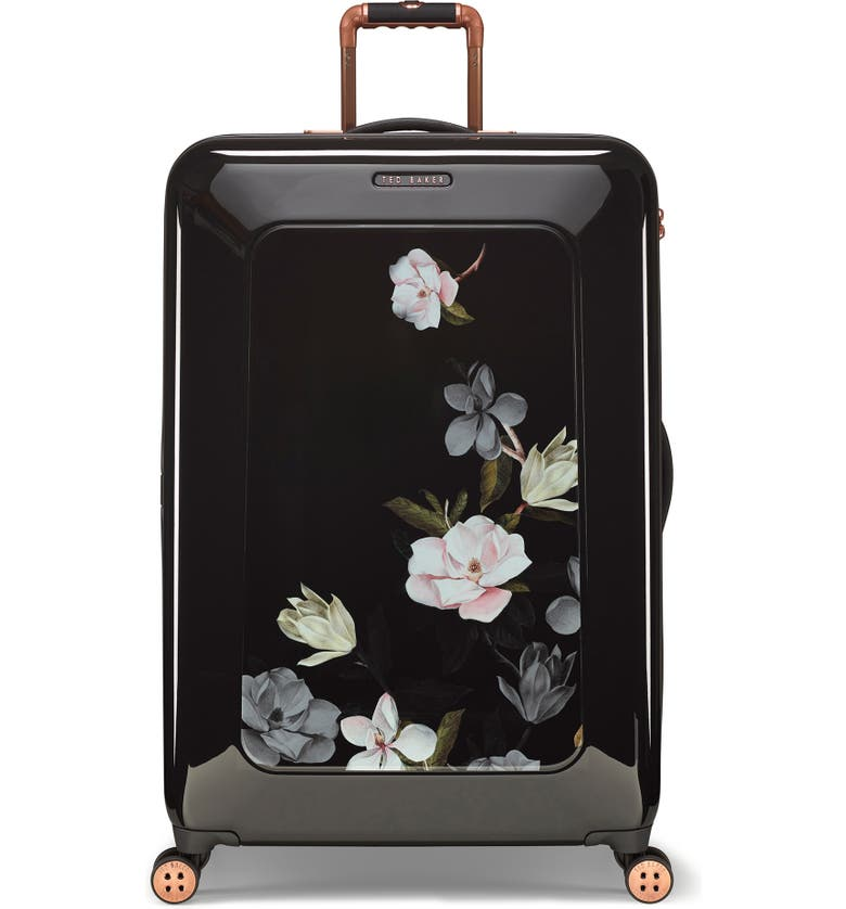 TED BAKER LONDON Large Take Flight Opal 32-Inch Hard Shell Spinner Suitcase, Main, color, BLACK