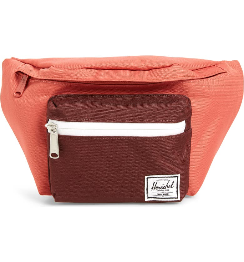 HERSCHEL SUPPLY CO. Seventeen Hip Pack, Main, color, MINERAL RED/ PLUM