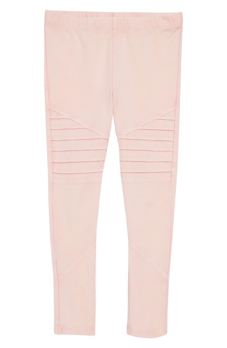 TUCKER + TATE Stretch Cotton Moto Leggings, Main, color, PINK PEACHSKIN WASH