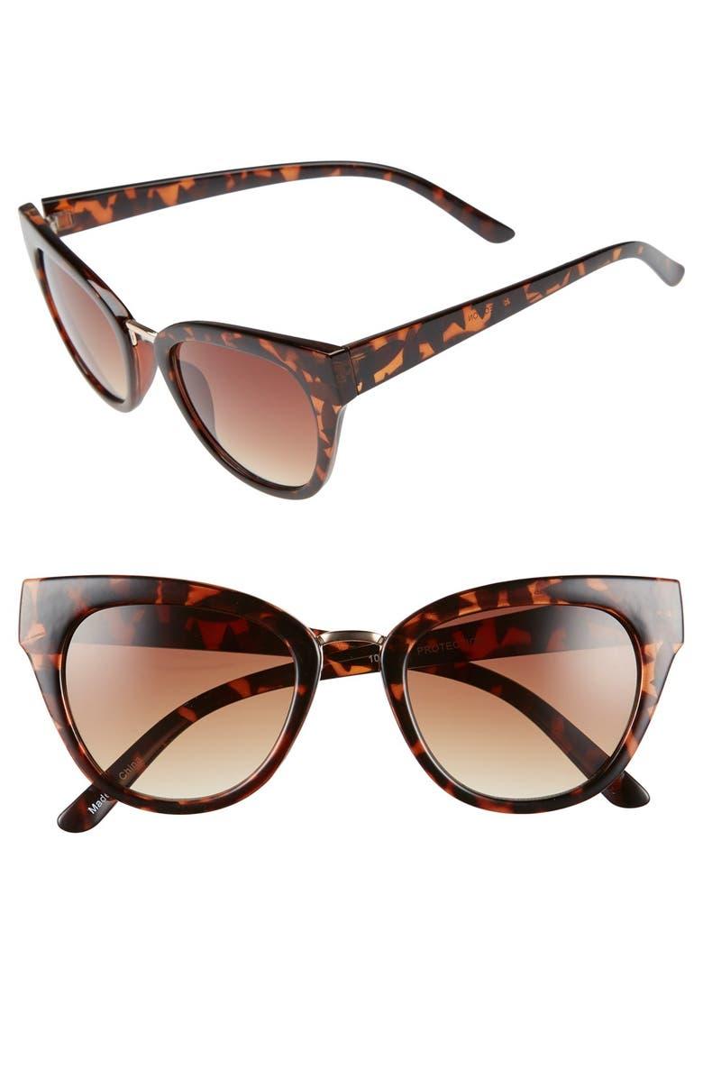 BP. 50mm Cat Eye Sunglasses, Main, color, 210
