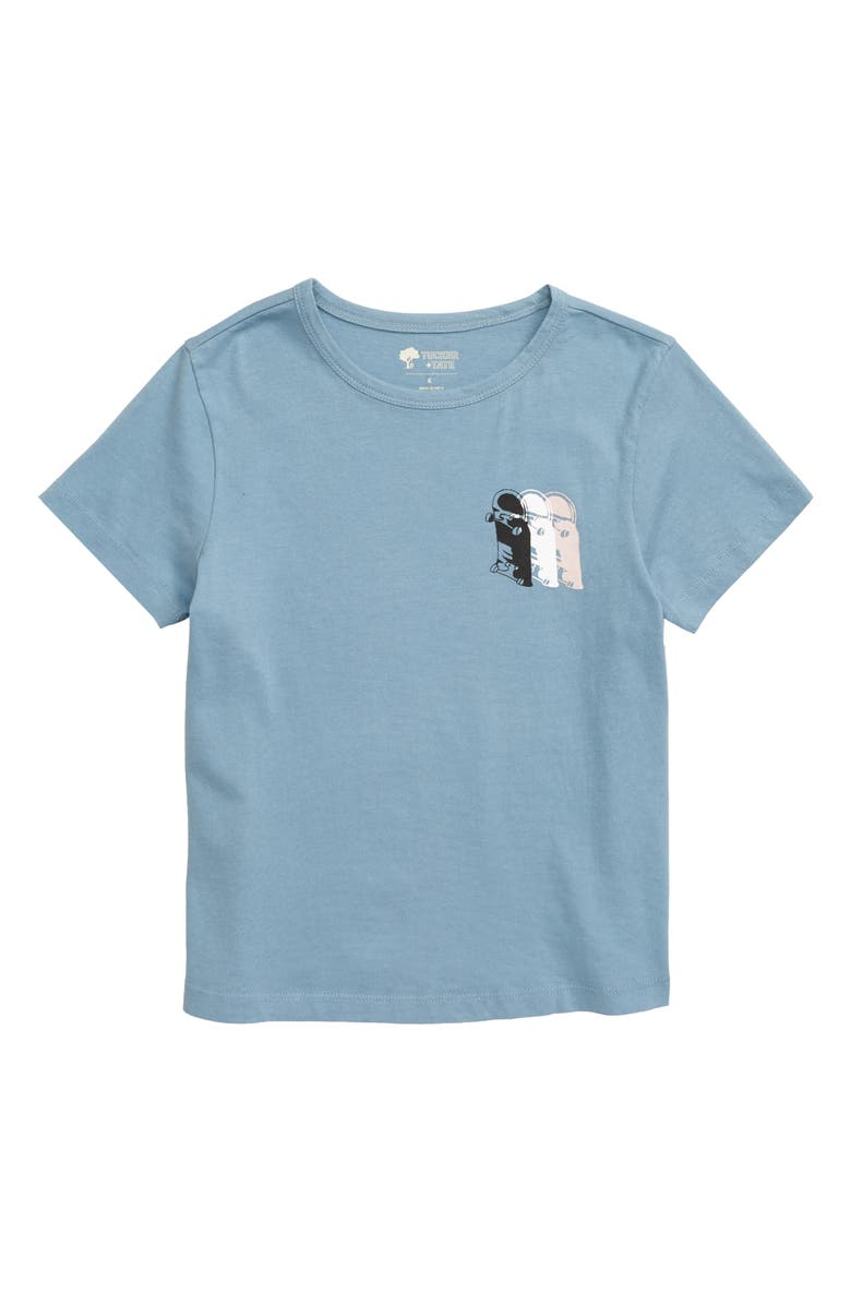 TUCKER + TATE Swing Jump Graphic T-Shirt, Main, color, BLUE CHAMBRAY SKATE LIFE