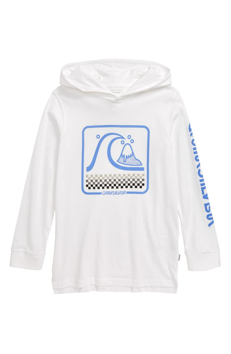 QUIKSILVER Bubble Bugy Hooded Pullover, Main, color, WHITE