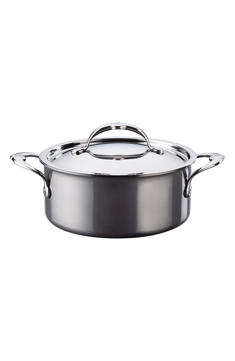 HESTAN 3-Quart Soup Pot with Lid, Main, color, STAINLESS STEEL