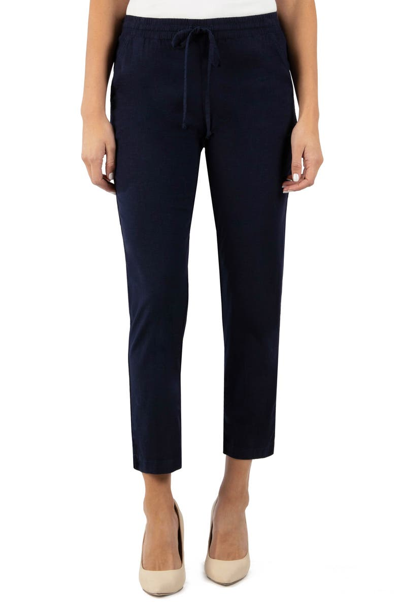 KUT FROM THE KLOTH Gaerwen Casual Ankle Pant, Main, color, NAVY