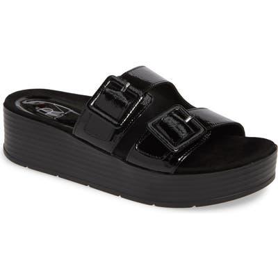 Pelle Moda Fatima Platform Slide Sandal, Black