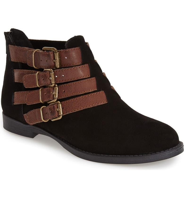 BELLA VITA 'Ronan' Buckle Leather Bootie, Main, color, 018
