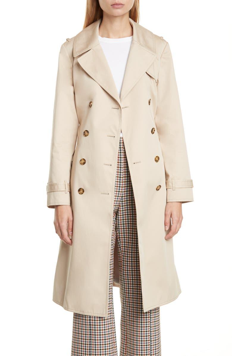 TORY BURCH Gemini Trench Coat, Main, color, 250