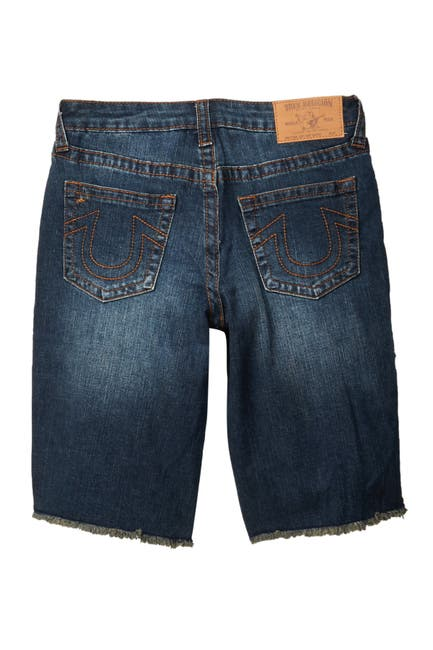 Image of True Religion Slim Single End Frayed Shorts