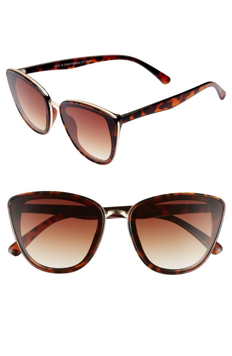 BP. 59mm Perfect Cat Eye Sunglasses, Main, color, 200