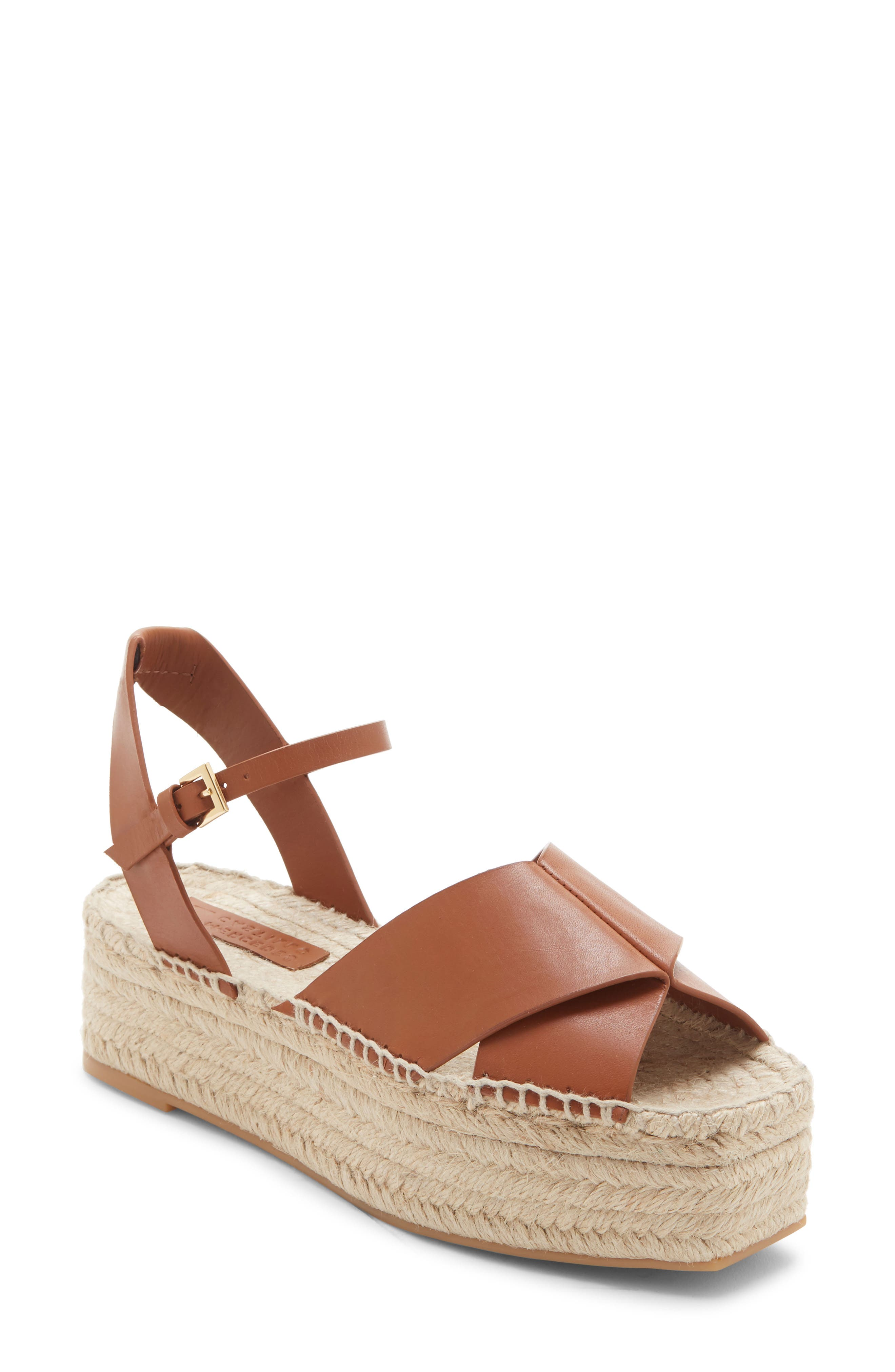 Mercedes Castillo Ximena Espadrille Platform Sandal, Brown