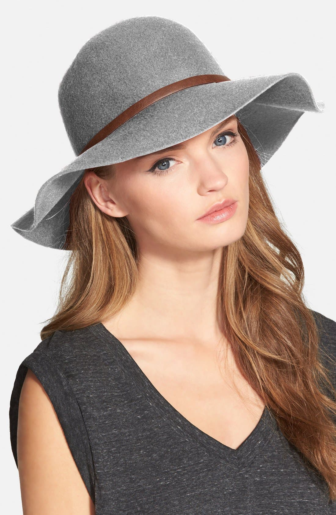 ,                             Floppy Wool Hat,                             Main thumbnail 4, color,                             020