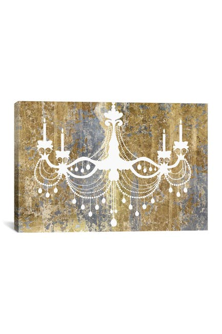 Image of iCanvas Gilded Chandelier by Wild Apple Portfolio
