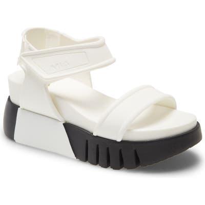 Mia Zita Platform Wedge Sandal, White
