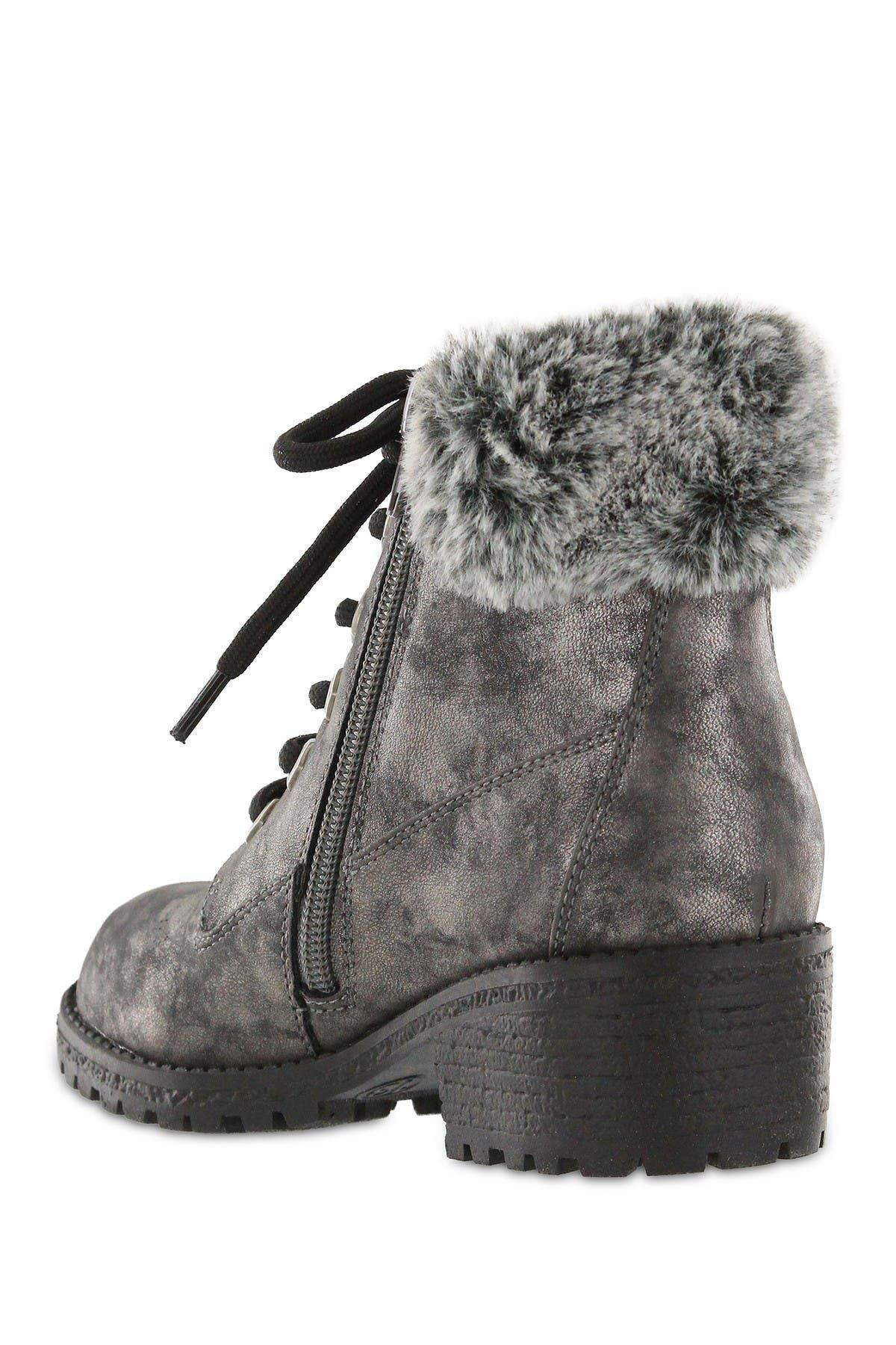 MIA Casey Faux Fur Trimmed Combat Boot