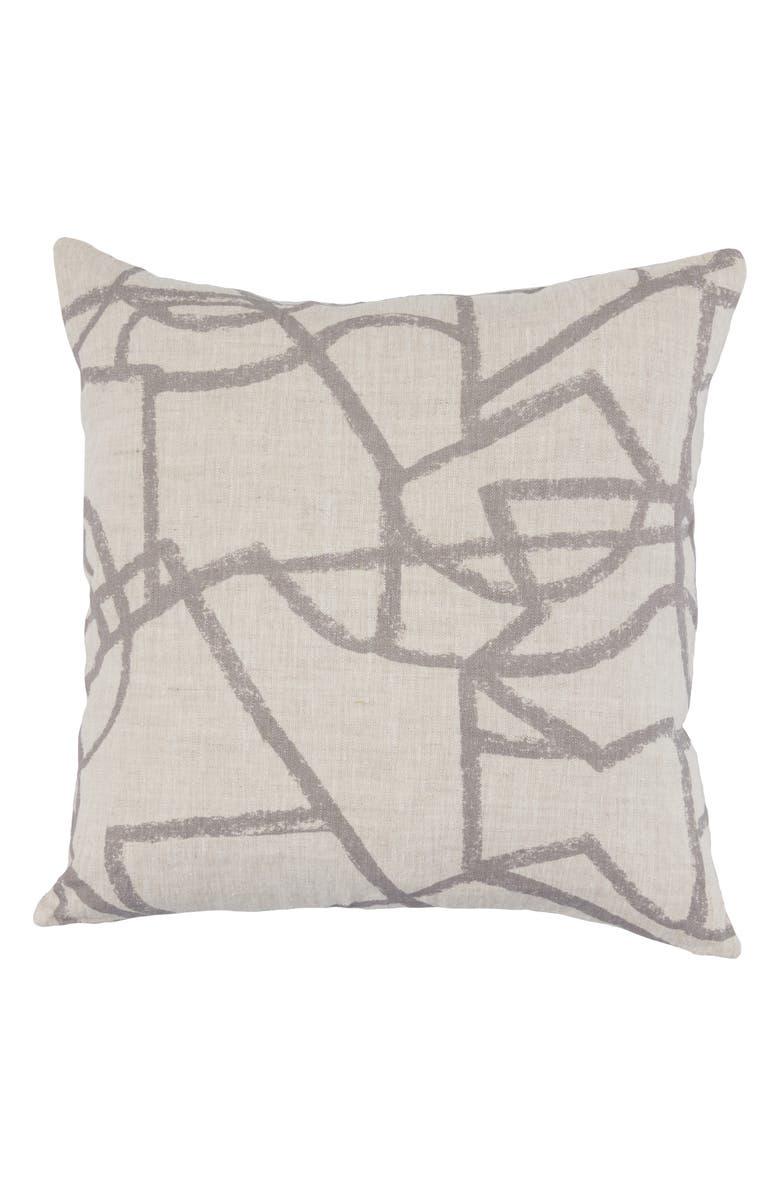 VILLA HOME COLLECTION Canyon Accent Pillow, Main, color, GREY