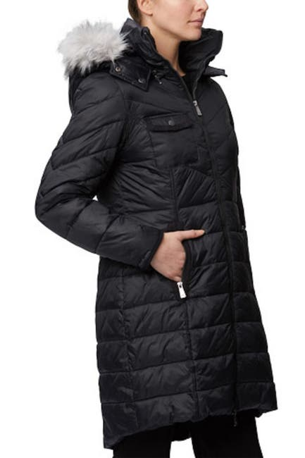 Image of Rainforest Nylon Cire Quilted Thermoluxe Parka