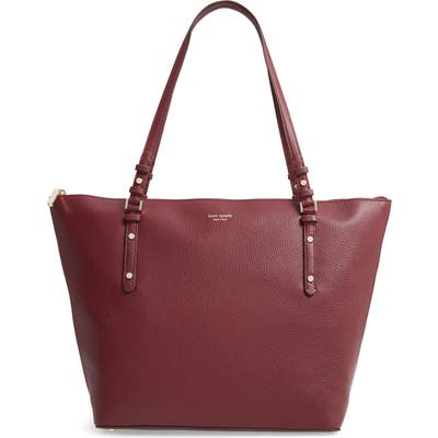Kate Spade New York Large Polly Leather Tote - Red