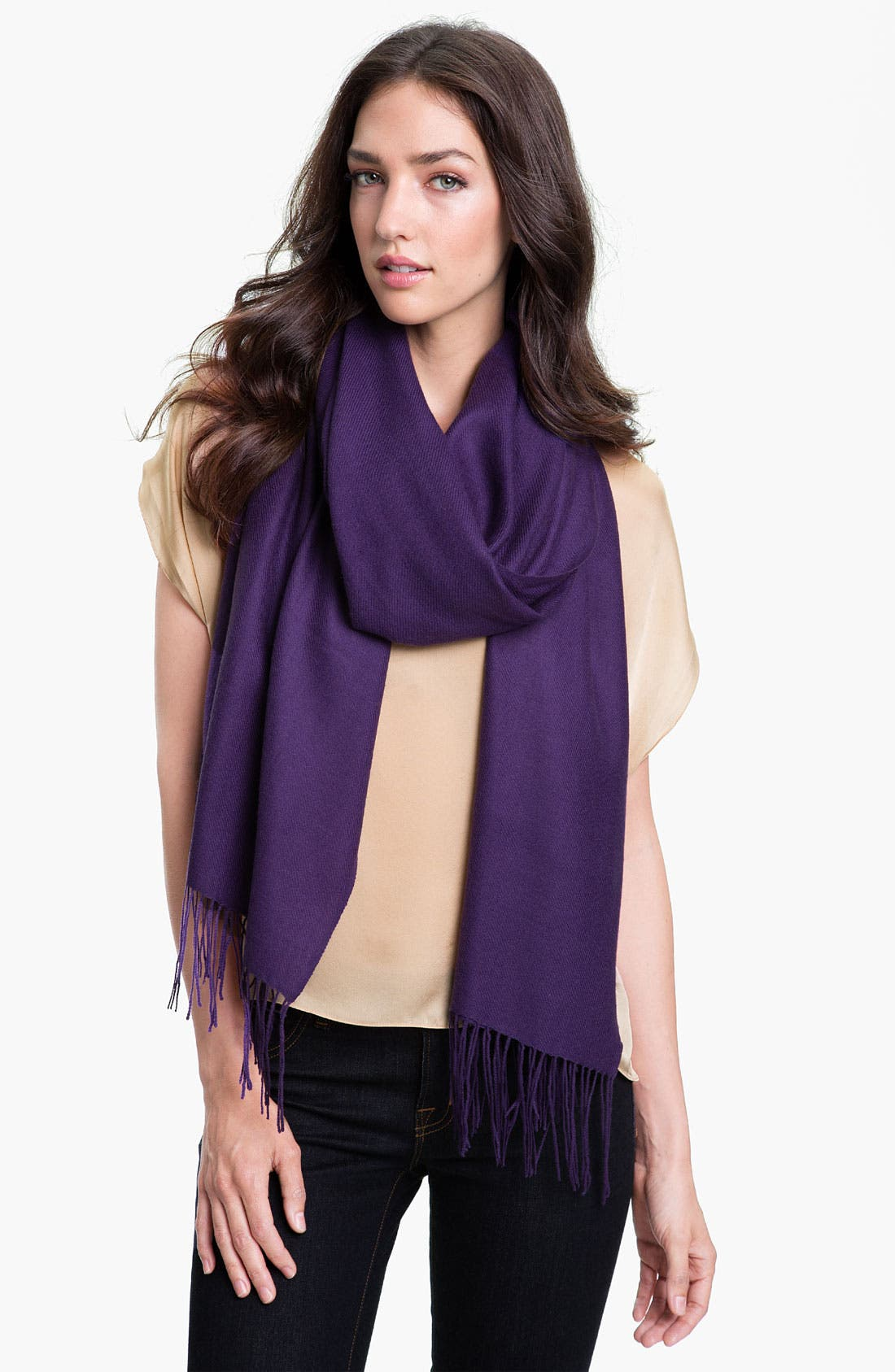 ,                             Tissue Weight Wool & Cashmere Wrap,                             Main thumbnail 145, color,                             544