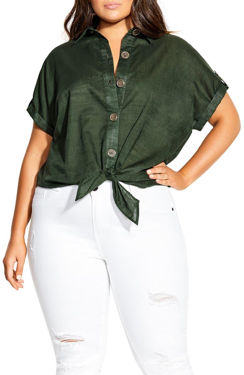 CITY CHIC Explore Shirt, Main, color, JUNGLE