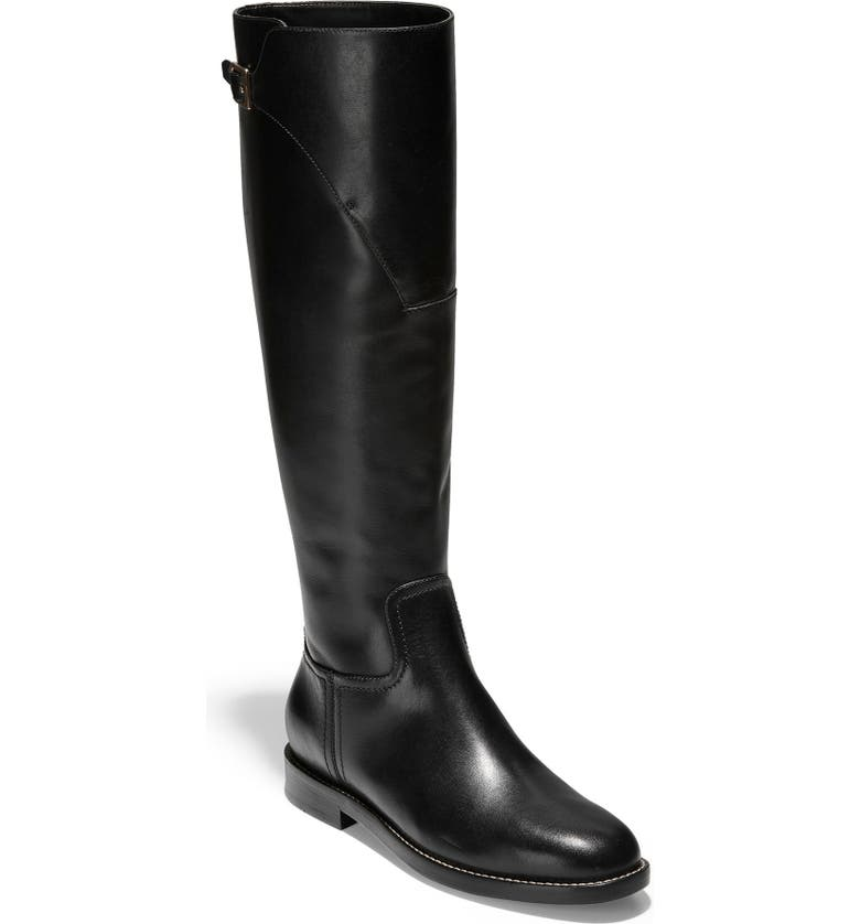 COLE HAAN Harrington Knee High Riding Boot, Main, color, 001