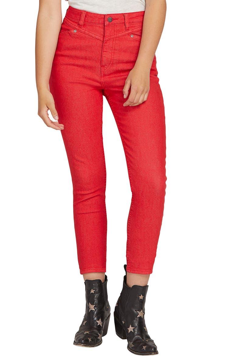 VOLCOM x Georgia May Jagger High Waist Skinny Jeans, Main, color, 600