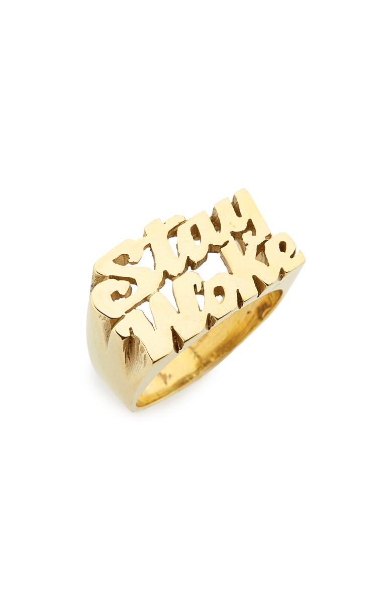 MELODY EHSANI Stay Woke Ring, Main, color, 710