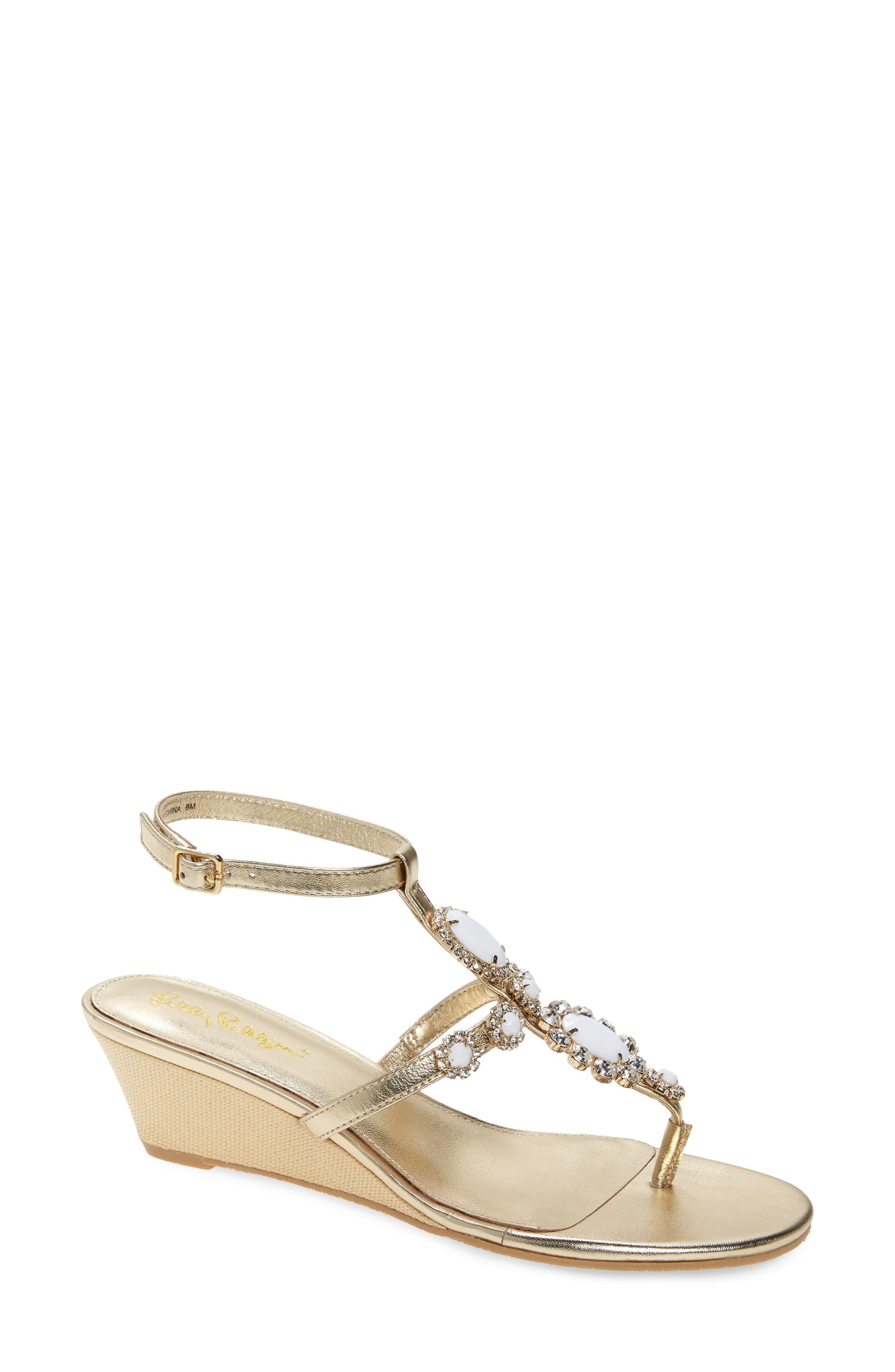 Women's Lilly Pulitzer Kately Embellished Wedge Sandal