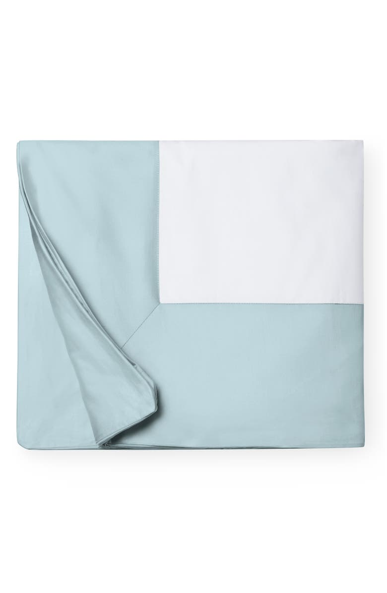 SFERRA Casida Duvet Cover, Main, color, WHITE/ POOLSIDE